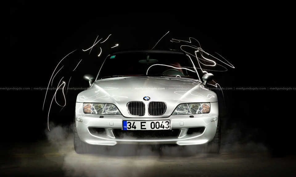 bmw z3m light painted