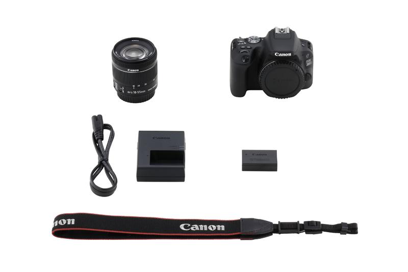 Canon 250D Kutu İçeriği